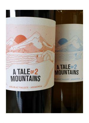 Houten kistje met twee flessen wijn